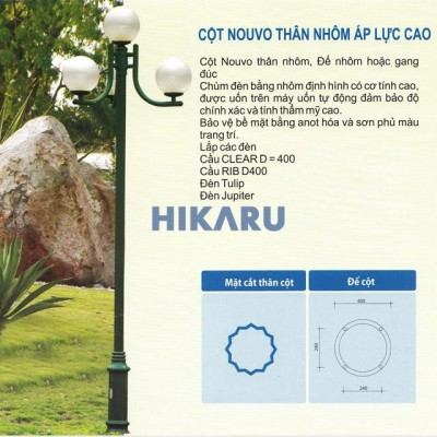 Cột sân vườn Nouvo