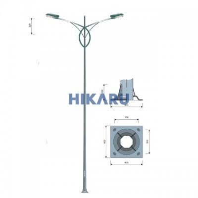 Cột đèn cao áp PT 01-2