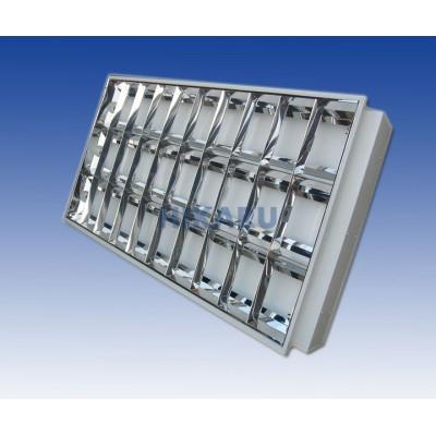 Máng đèn tán quang âm trần 3 bóng x 1m2 nan chữ A