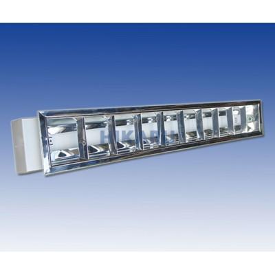 Máng đèn tán quang âm trần 1 bóng x 1m2 nan chữ A