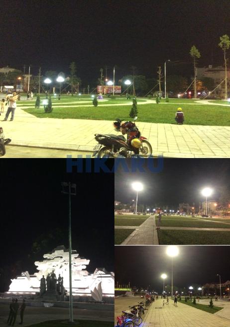 Cột đèn giàn nâng hạ tại Quảng trường Tuyên Quang