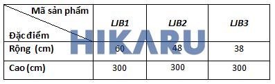 Thông số kỹ thuật LJB